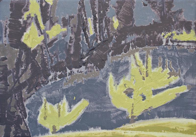 Yana BYSTROVA, Contrejour bleu-jaune